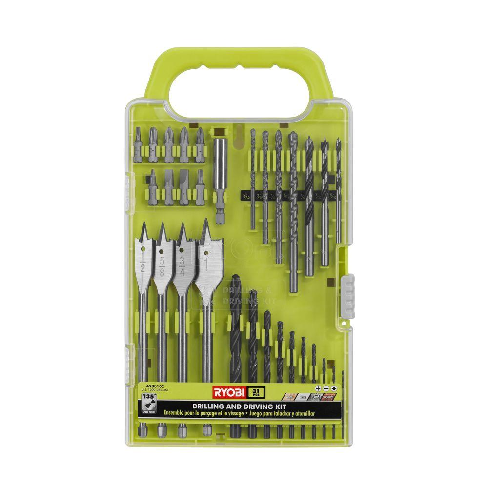 RYOBI Black Oxide Drill and Drive Kit (31-Piece)