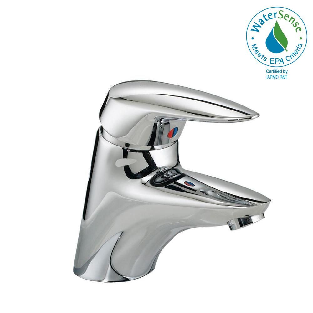 Ceramix 4 in. Single Handle Low-Arc Bathroom Faucet in Polished Chrome