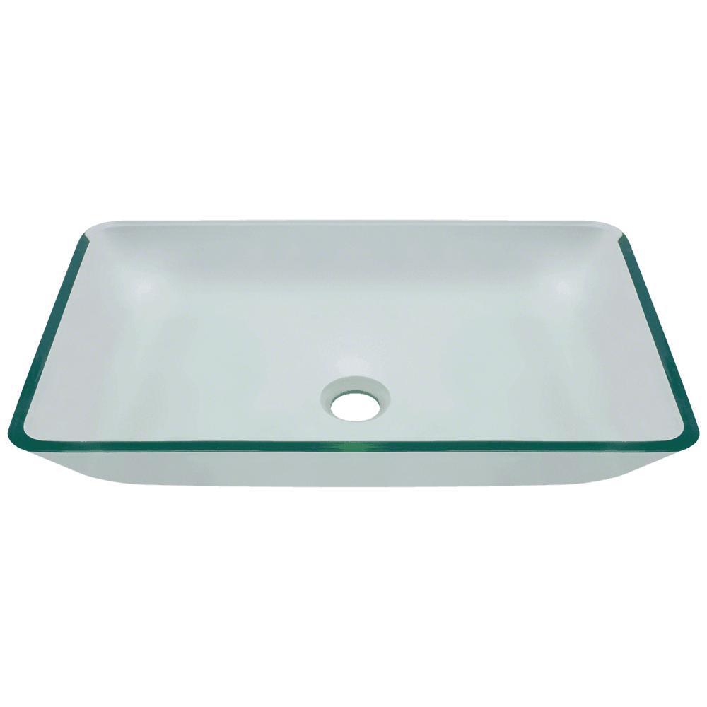 Glass Vessel Sink in Crystal