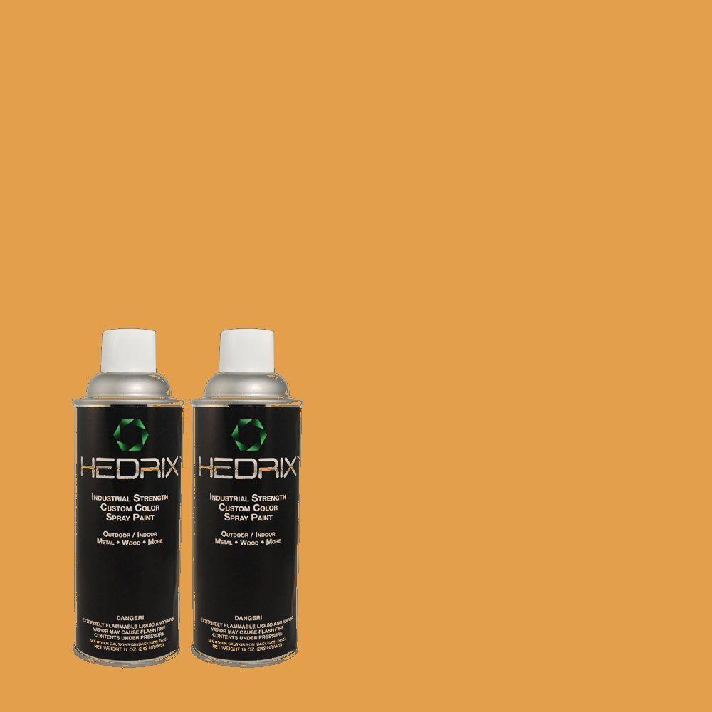 Hedrix 11 oz. Match of 290D-5 Apple Crisp Semi-Gloss Custom Spray Paint (2-Pack)