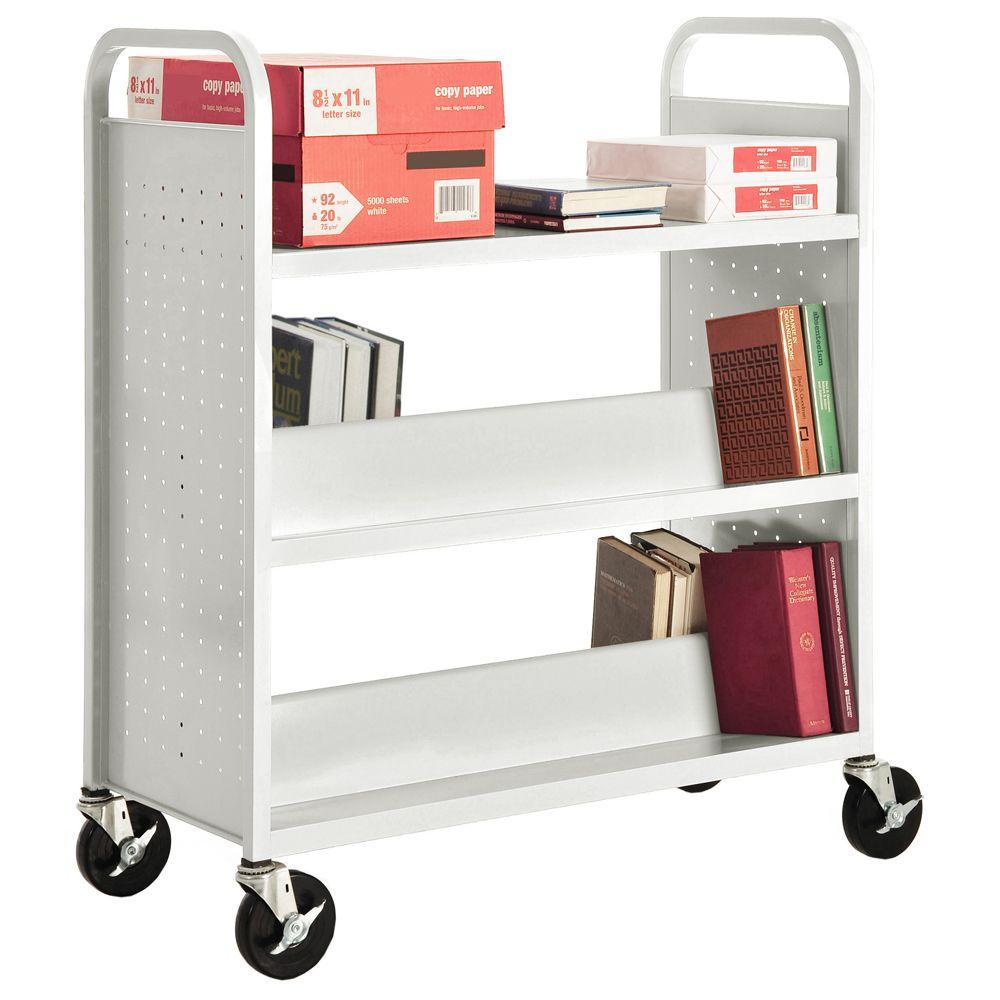 Sandusky Anti-Microbial White Mobile Steel Bookcase