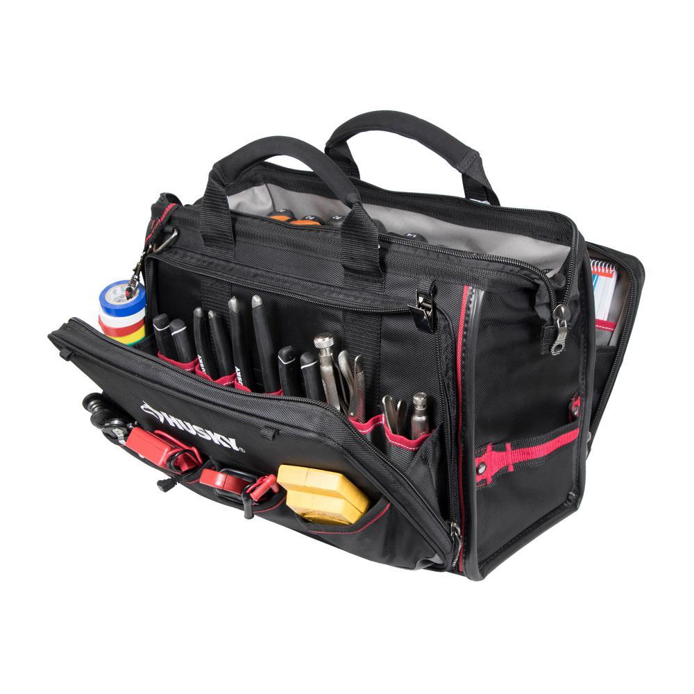 60140ffdb165 Husky 18 in. Total Tech Tool Bag-67130-02 - The Home Depot