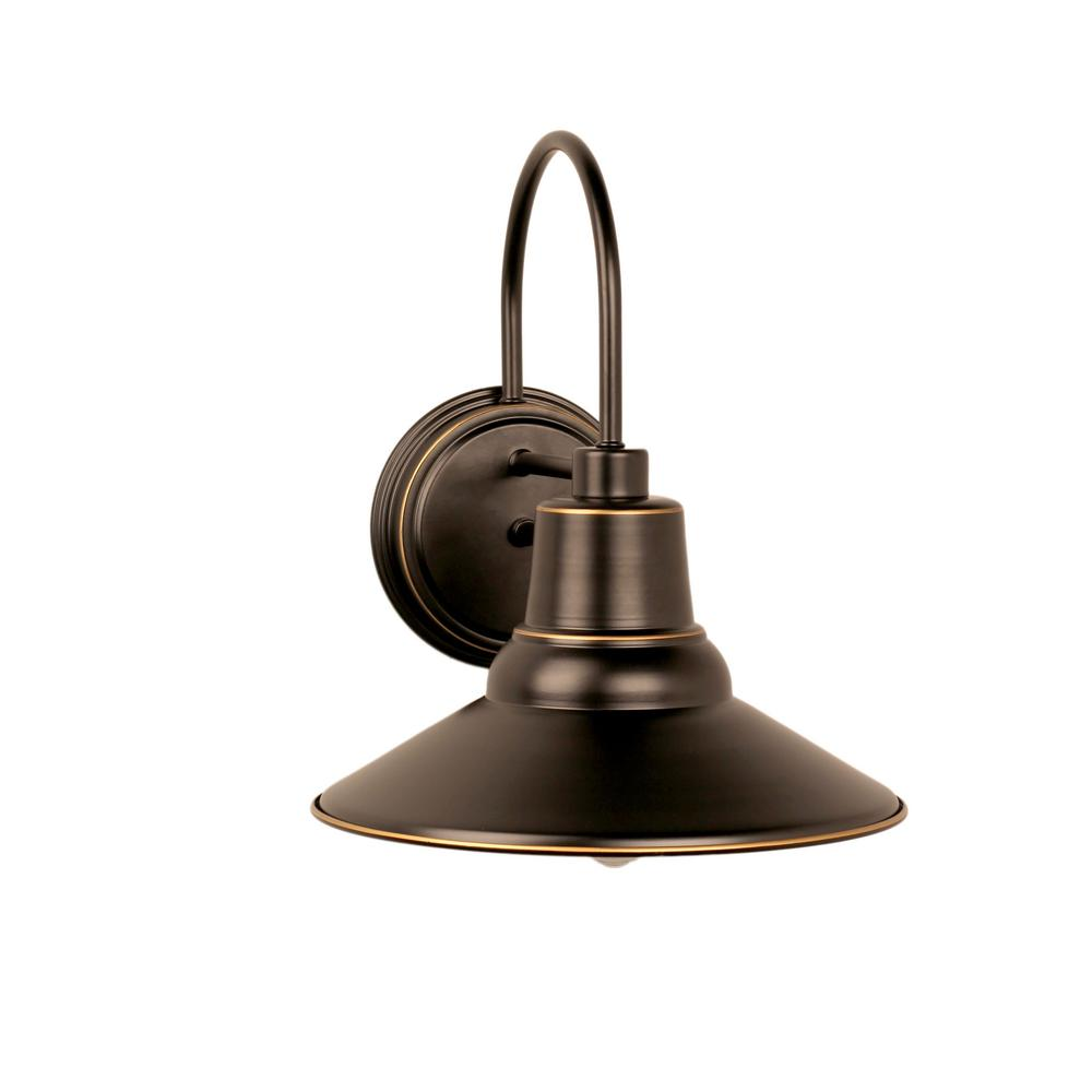 Y decor shelby 1 light imperial black outdoor wall mount sconce el950ib the home depot for Black exterior sconce