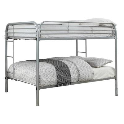 Opal Transitional Style Silver Color Metal Full Over Full Bunk Bed
