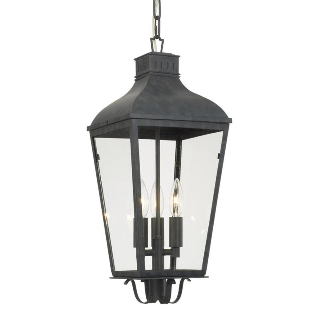 Dumont 3-Light Graphite Lantern Outdoor Chandelier