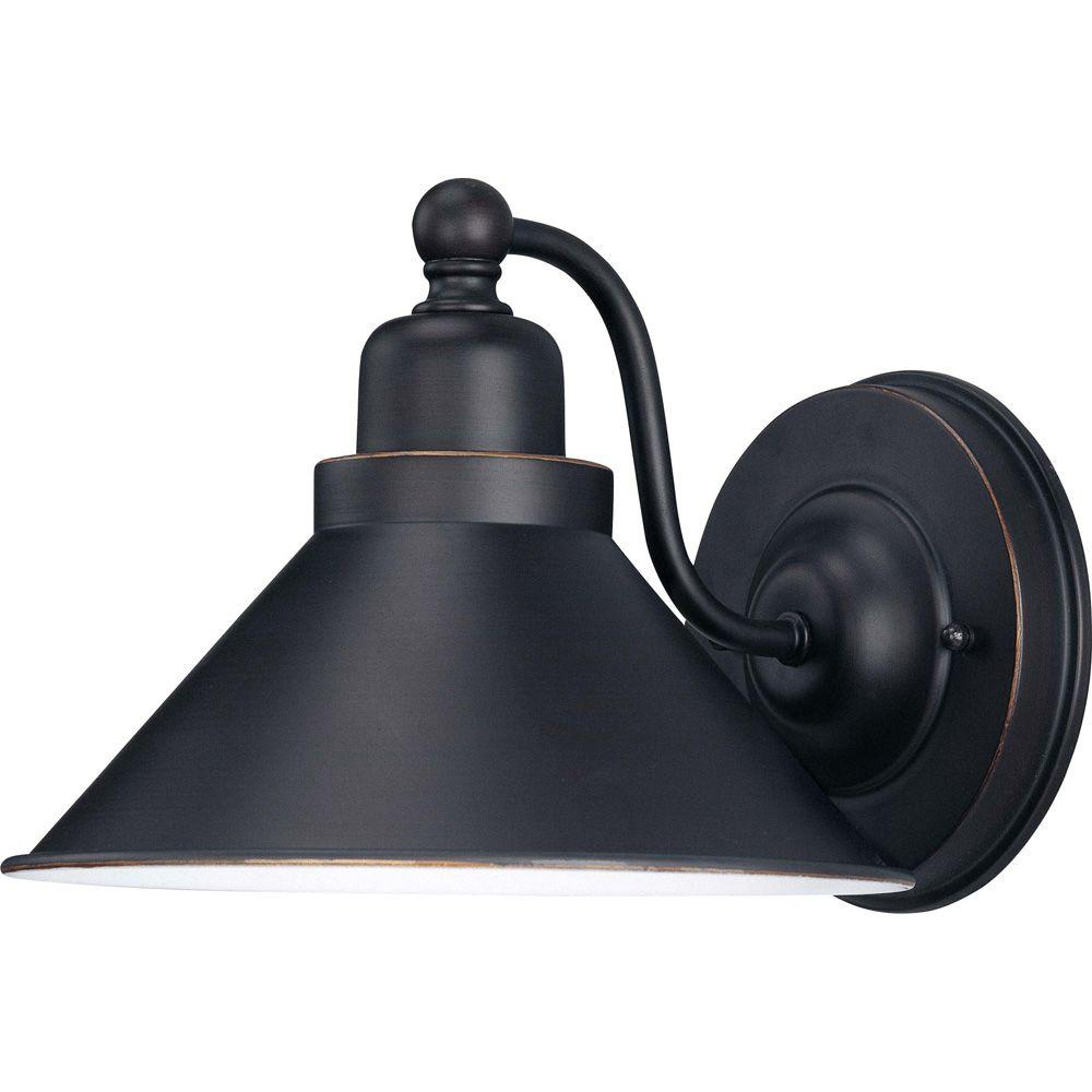 Glomar Siwa 1 Light Mission Dust Bronze Sconce