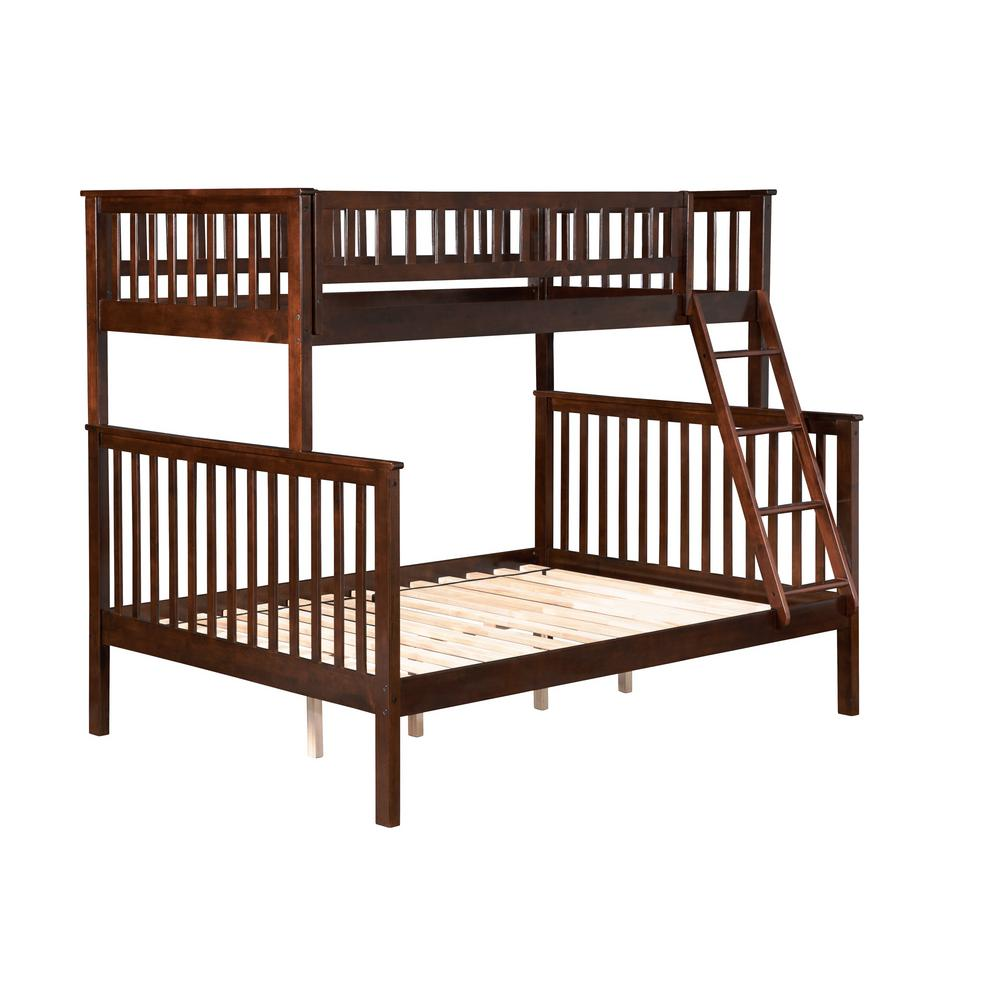 Atlantic Furniture Woodland Walnut Twin Over Full Bunk Bed