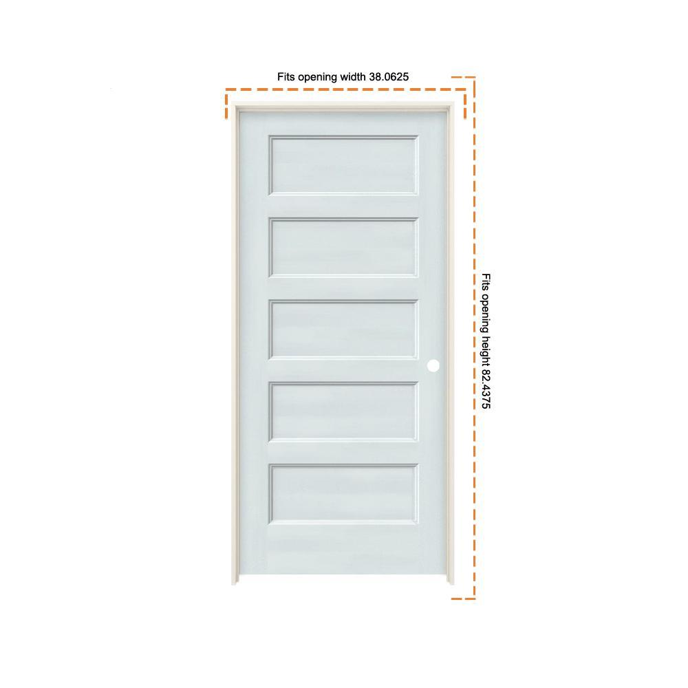 Jeld Wen 36 In X 80 In Conmore Light Grey Paint Smooth Solid Core Molded Composite Single Prehung Interior Door