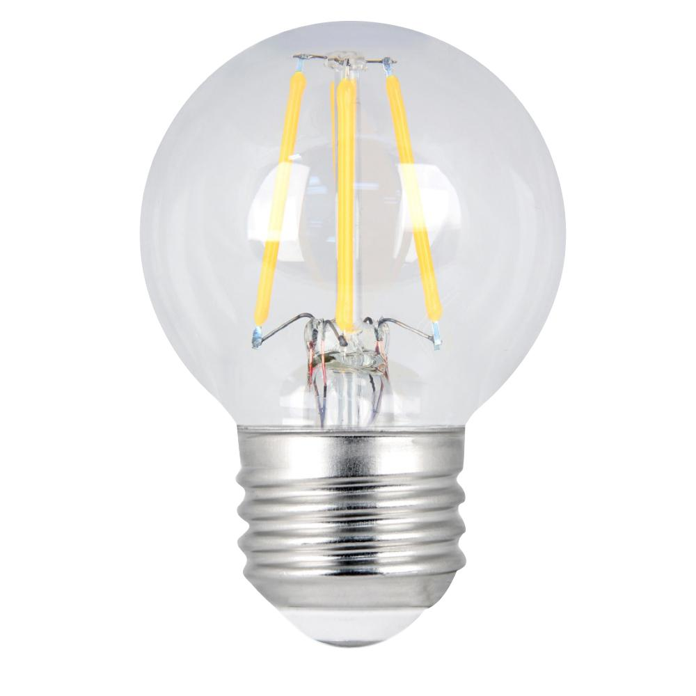 60W Equivalent Soft White G16.5 Dimmable Clear Filament LED Medium Base