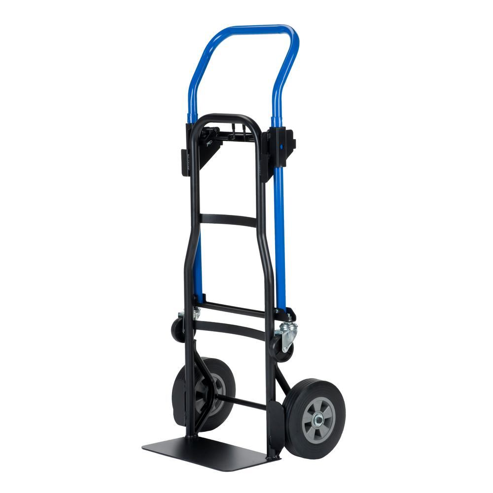 Quick Change 600 lbs. Capacity 3-in-1 Convertible Hand Truck
