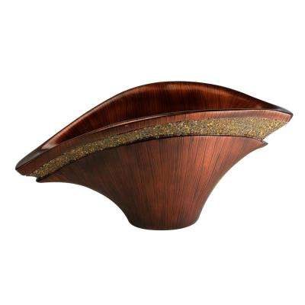 Goldie Ruby Fan Burgundy Polyresin Decorative Vase