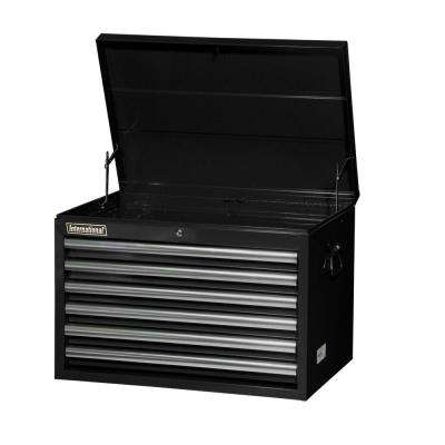 Tech Series 27 in. 6-Drawer Top Chest, Black