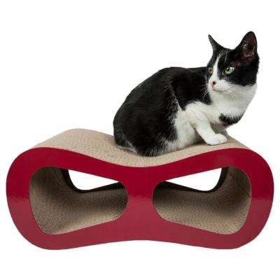 Red Modiche Ultra Premium Modern Designer Lounger Cat Scratcher