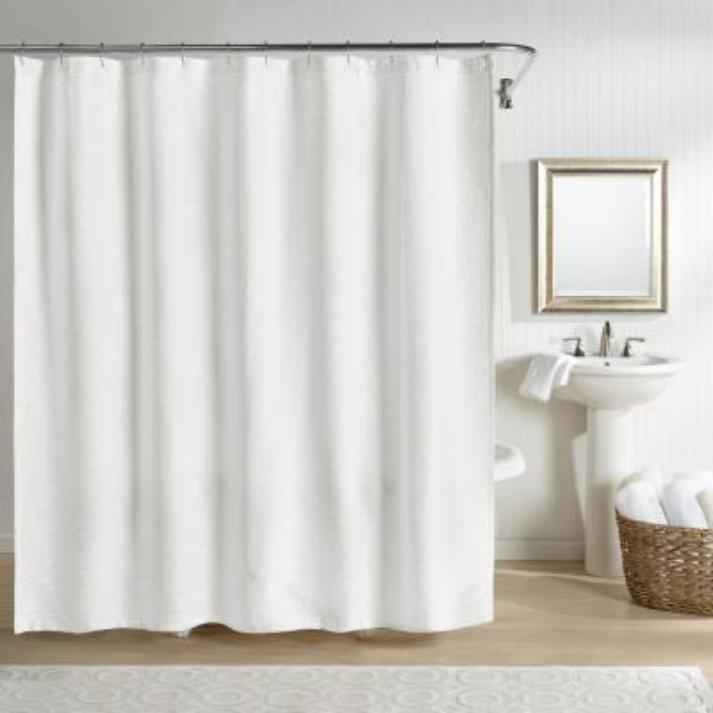 Sunset Shower Curtain White