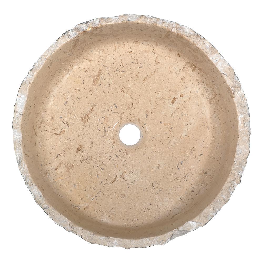 Iro Vessel Sink in Classic Cream Marble