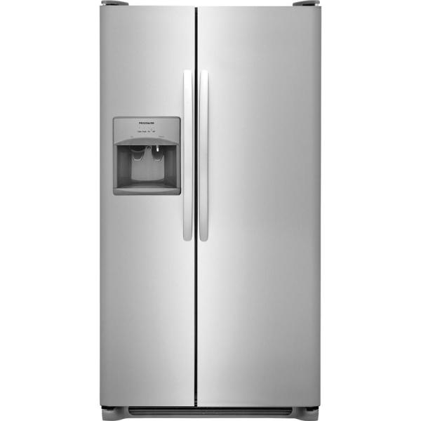 25.5 cu. ft. Side by Side Refrigerator in Stainless Steel