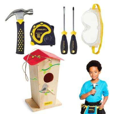 Tall Birdhouse Kit and 5-Piece Tool Ste