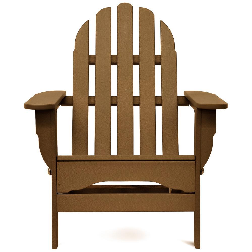 Icon Teak Plastic Folding Adirondack Chair