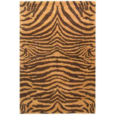 Soho Brown/Gold 6 ft. x 9 ft. Area Rug