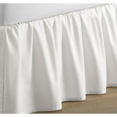 14.5 in. Solid Cotton Ruffled Bed Skirt