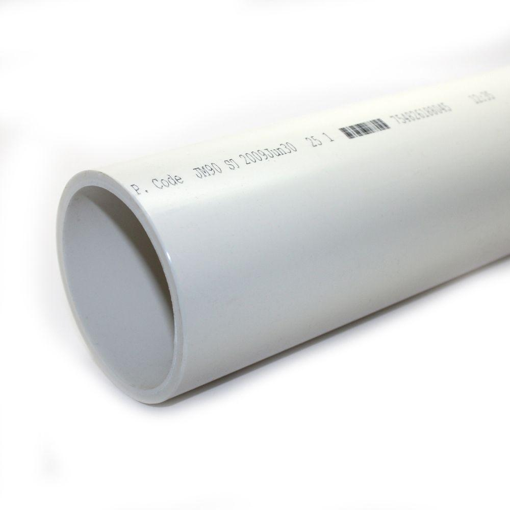 Pvc Sch 40 Dwv Plain End Pipe 1586 The Home Depot