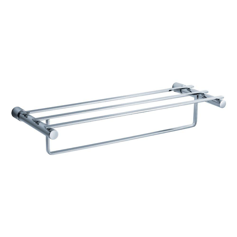 Magnifico 23 in. Towel Rack in Chrome