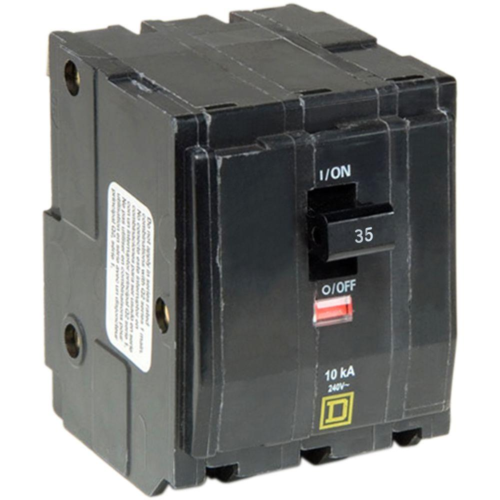 Square D Qo 35 Amp 3 Pole Plug In Circuit Breaker Qo335cp