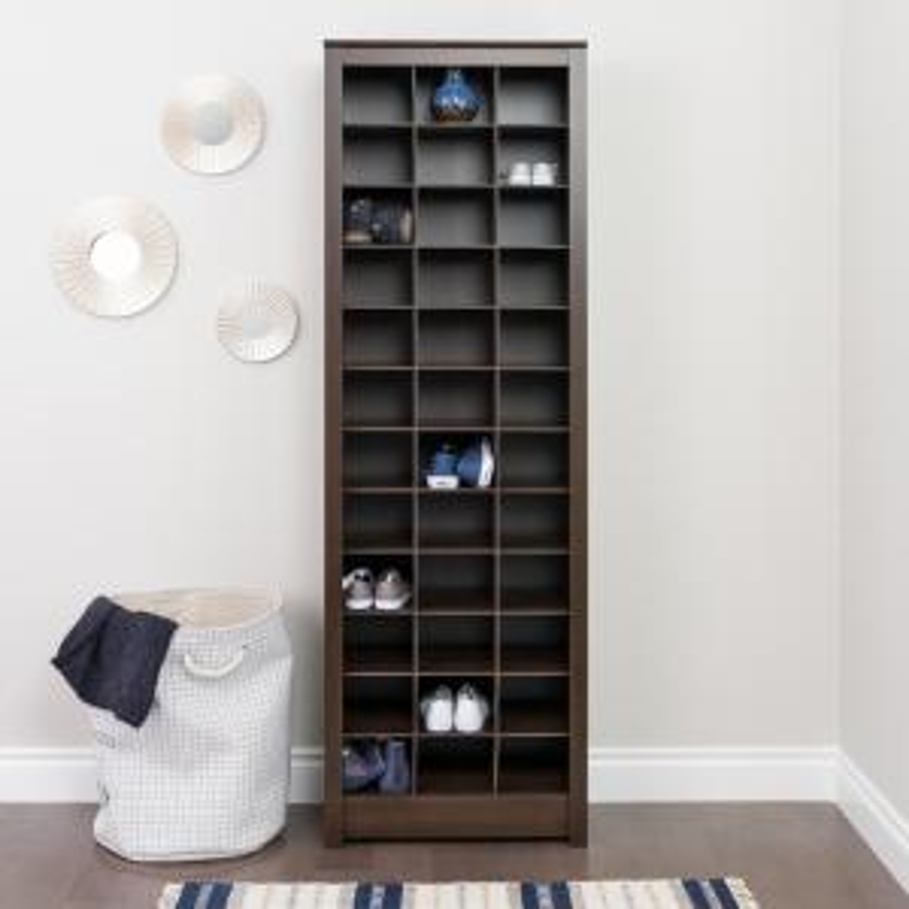 Prepac Espresso Space-Saving Shoe Storage Cabinet by Prepac