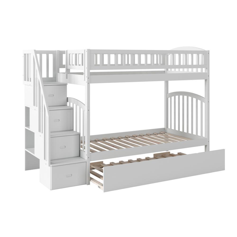 Trundle Bunk Loft Beds Kids Bedroom Furniture The Home Depot
