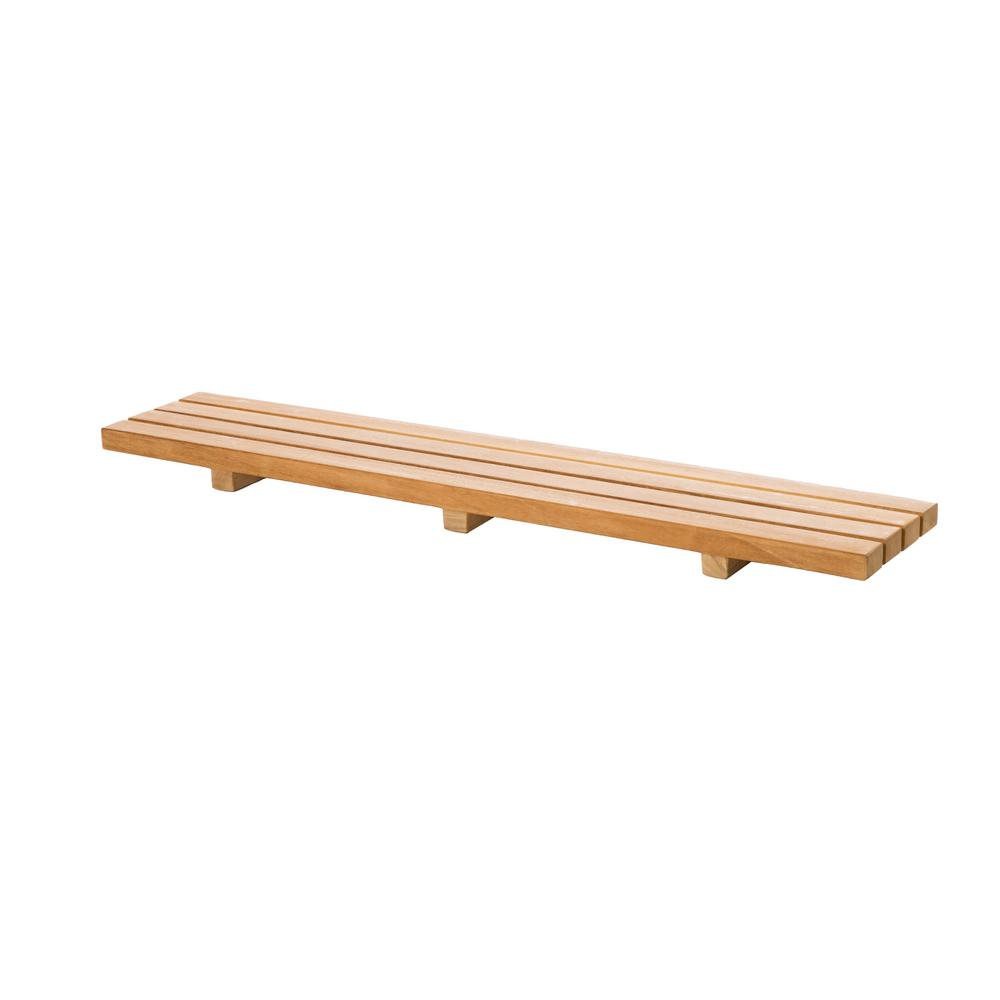 ARB Teak and Specialties 34.50 in. W x 6.00 in. D Tub Seat in Natural Teak with 4-Slats