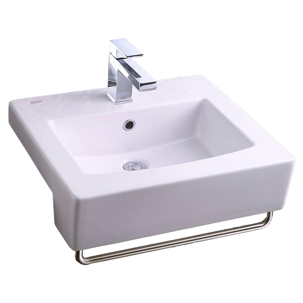 American Standard Boxe In Center Countertop Bathroom Sink In White The Home