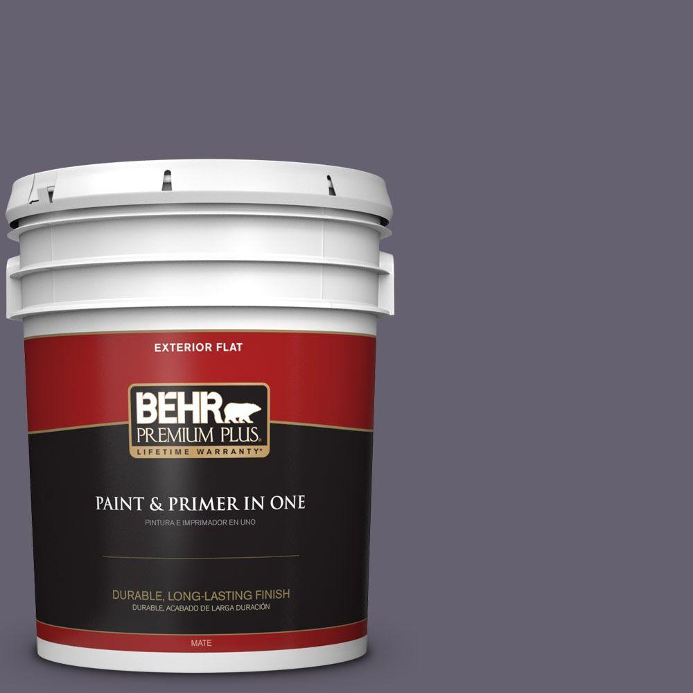BEHR Premium Plus 5-gal. #N560-6 Fashionista Flat Exterior Paint