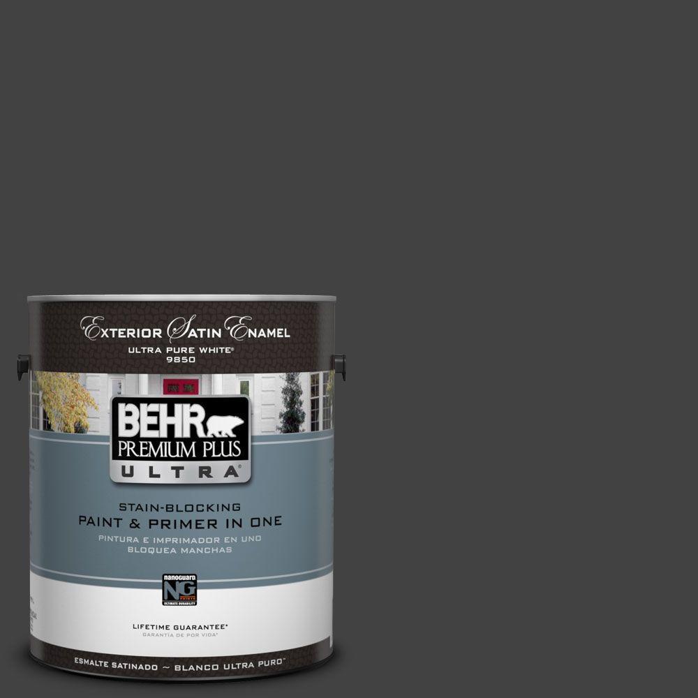 BEHR Premium Plus Ultra 1-Gal. #UL200-1 Broadway Satin Enamel Exterior Paint