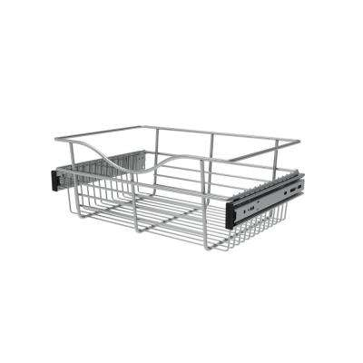 18 in. x 7 in. Chrome Closet Pull-Out Basket