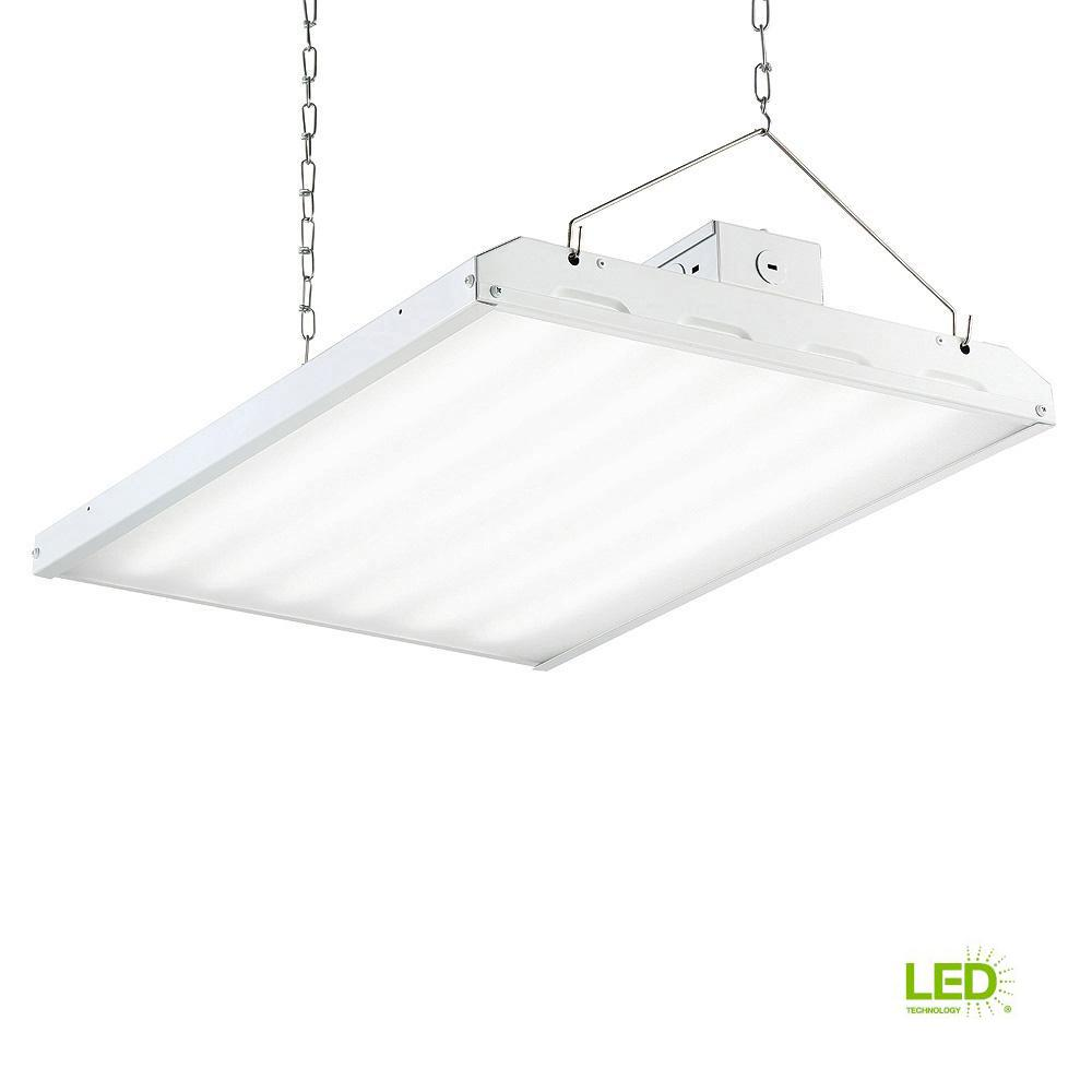 160-Watt 2 ft. White Integrated LED Backlit High Bay Hanging Light