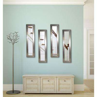 10 in. x 31 in. Silver Rounded Mirror (Set of 4-Panels)
