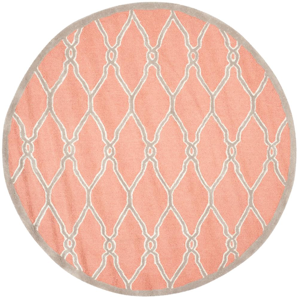 Safavieh Cambridge Coral Ivory 6 Ft X 6 Ft Round Area