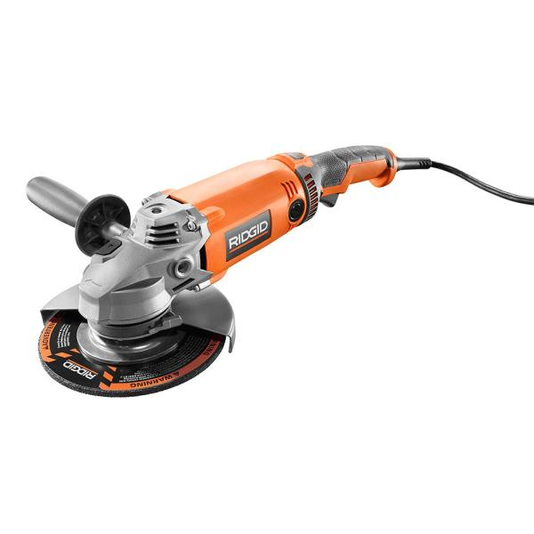 15 Amp Corded 7 in. Twist Handle Angle Grinder