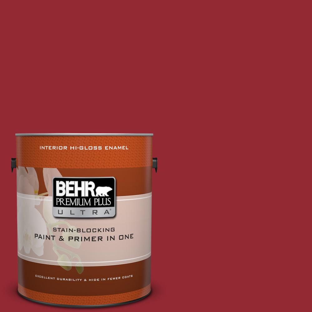1 gal. #ECC-32-3 Cherry Tree Hi-Gloss Enamel Interior Paint