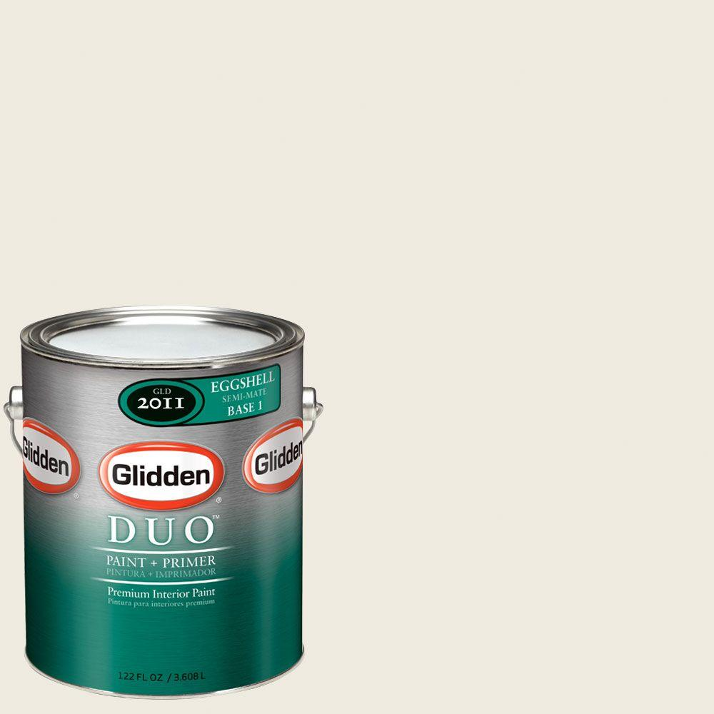 Glidden DUO Martha Stewart Living 1-gal. #MSL029-01E Glass of Milk Eggshell Interior Paint with Primer-DISCONTINUED
