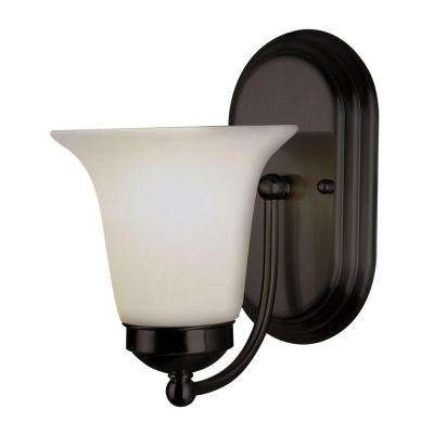 Stewart 1-Light Rubbed Oil Bronze CFL Sconce