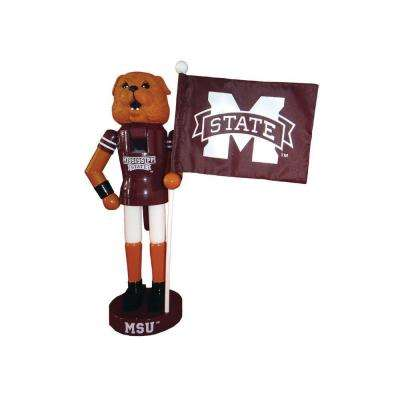 12 in. MS State Mascot Nutcracker with Flag