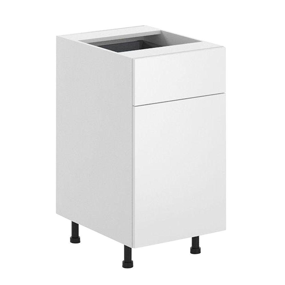Ready to Assemble 18x34.5x24.5 in. Alexandria Base Cabinet in White Melamine