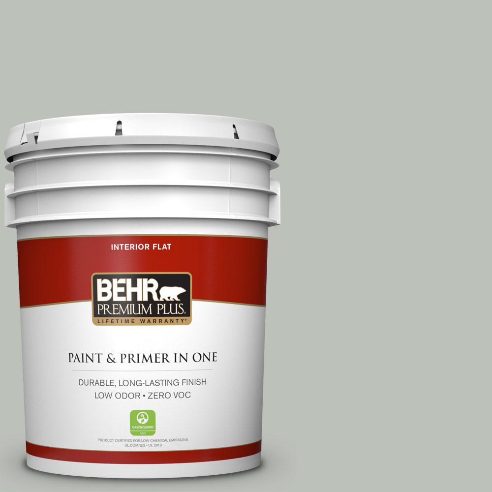 BEHR Premium Plus 5-gal. #710E-3 Rhino Zero VOC Flat Interior Paint