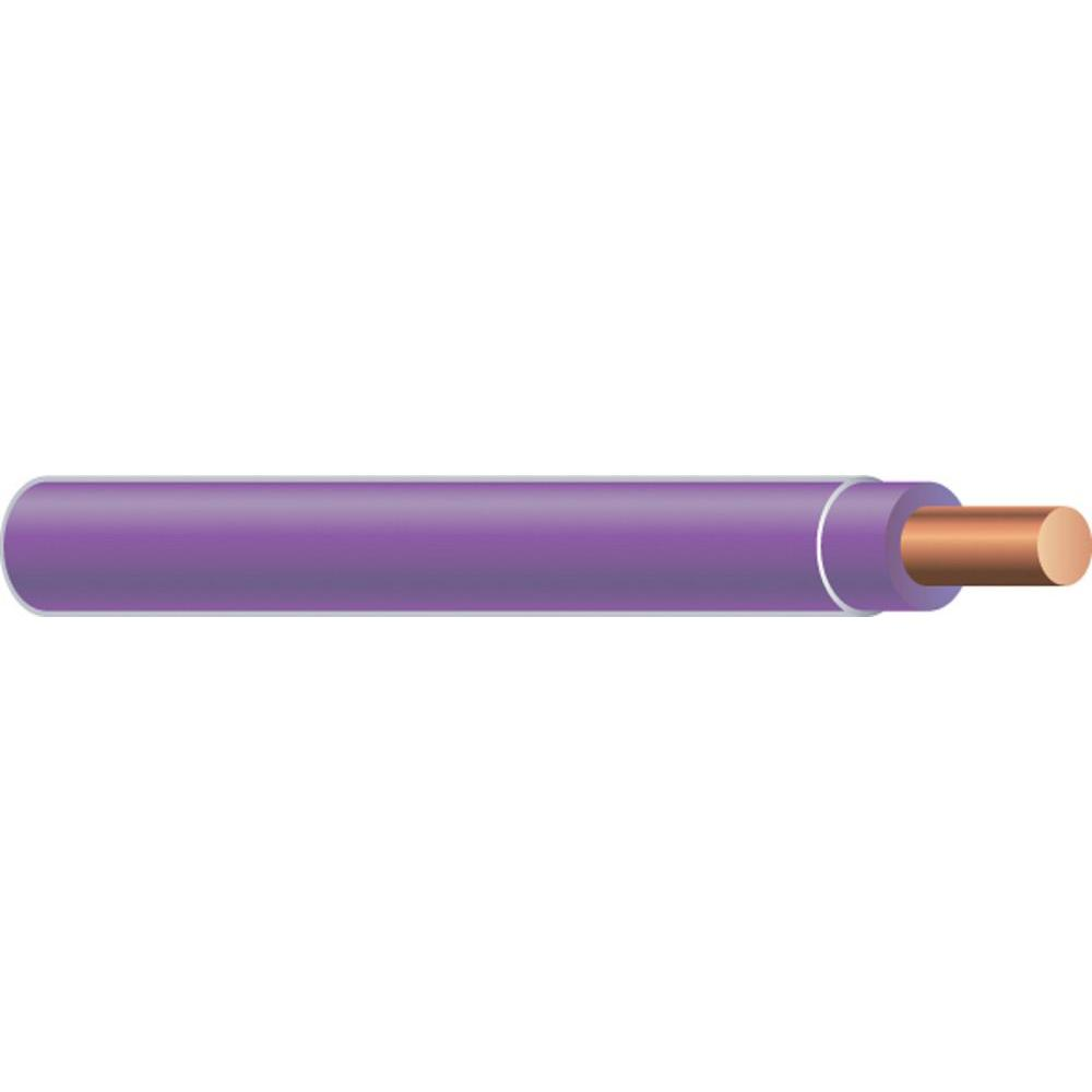 Southwire 2,500 ft. 12 Purple Solid CU THHN Wire-21204305 - The Home ...