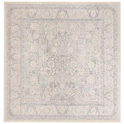 Reflection Light Gray/Cream 7 ft. x 7 ft. Square Area Rug