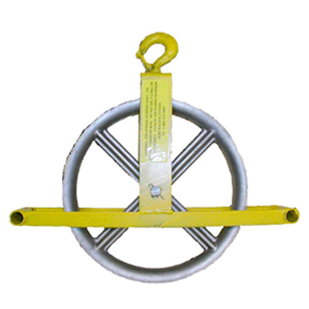 Hoisting Wheel with Hook for Overhead Attachment