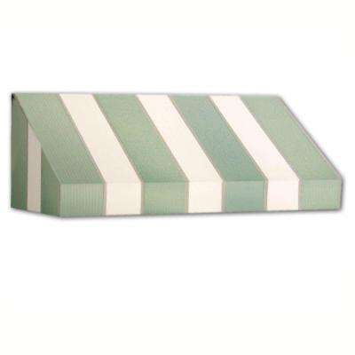 10 ft. New Yorker Window/Entry Awning (24 in. H x 36 in. D) in Sage/Linen/Cream Stripe