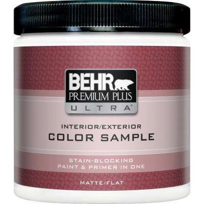 8 oz. Tintable Deep Base Matte Interior/Exterior Paint and Primer in One Sample