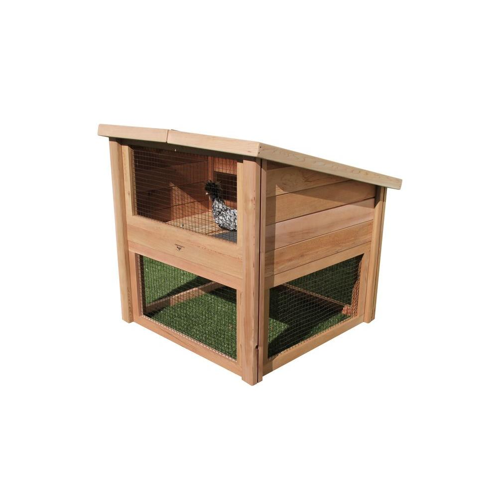 Gronomics 45 in. L x 45 in. W x 48 in. H Chicken Coop Pet...
